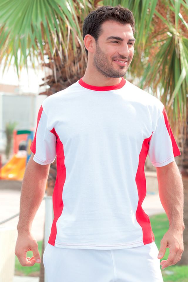 T-Shirt Bicolore 100% Cotone