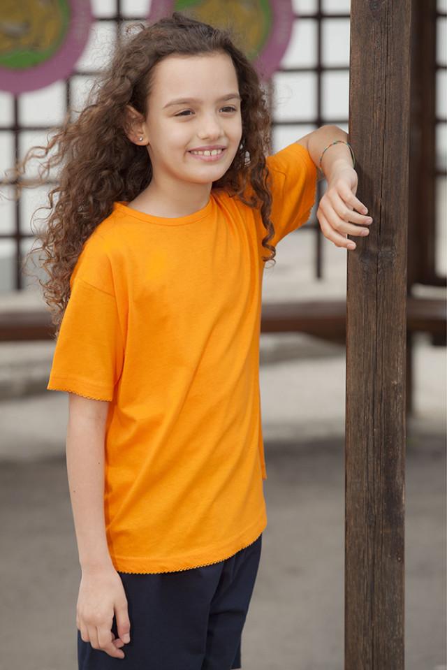 T-shirt Girl con Merletto