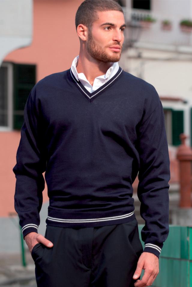 Maglione Uomo Collo V