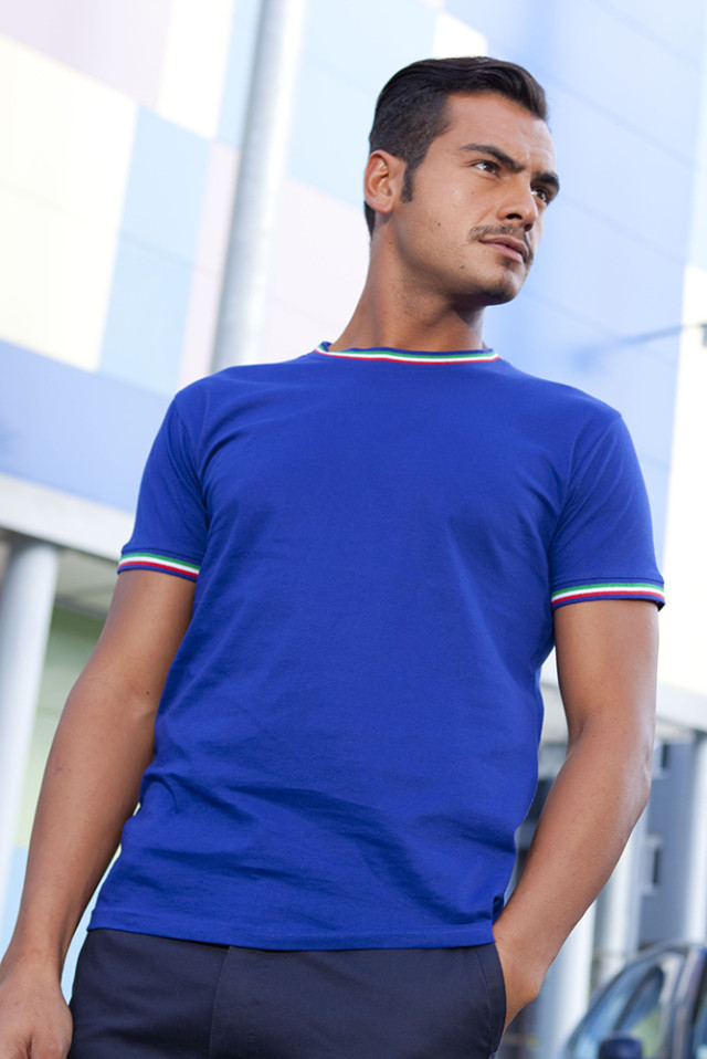 T-Shirt Tricolore 100% Cotone