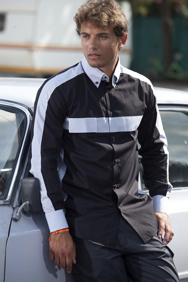 Camicia Uomo Bicolore